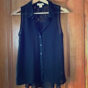 Button up tank blouse